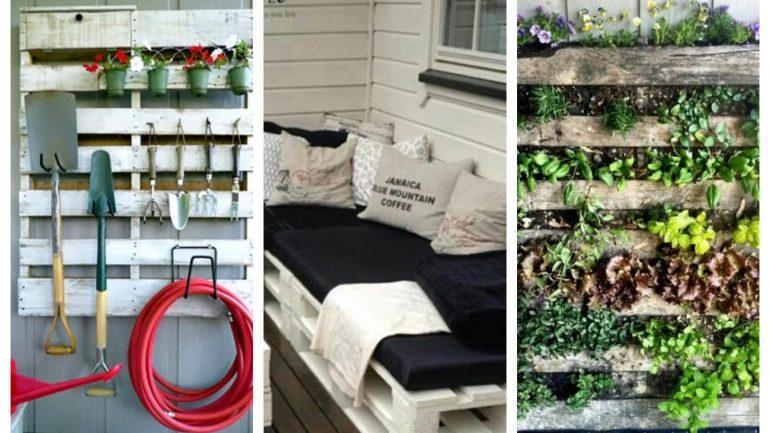 Tipy, ktoré sa dajú urobiť do záhrady z paliet
