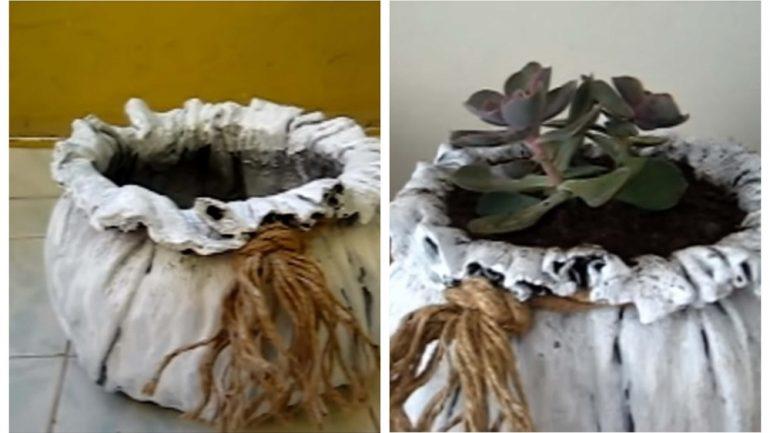Záhradné inšpirácie: Postup, ako urobiť kvetináč v tvare vreca