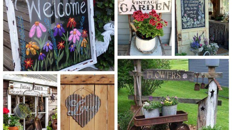 17 roztomilých nápadov na záhradné nápisy