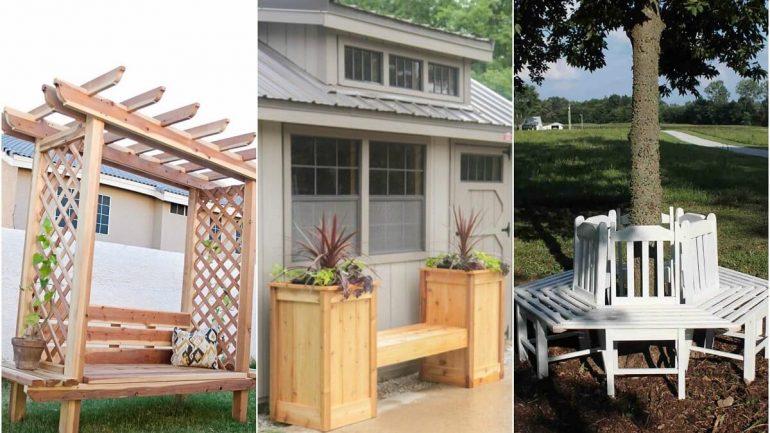 9 kreatívnych nápadov na záhradné lavičky