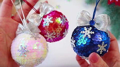 Ako vyrobiť nádherné vianočné gule z flitrov