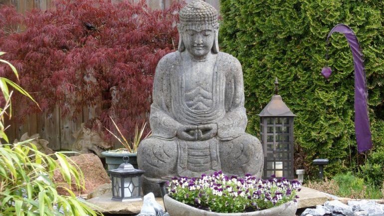 záhrada na meditovanie