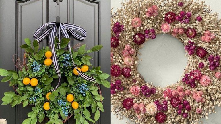 Jarné vence na dvere, ktoré krásne oživia váš domov