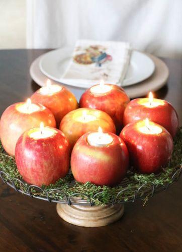 Svietniky z jabĺčok