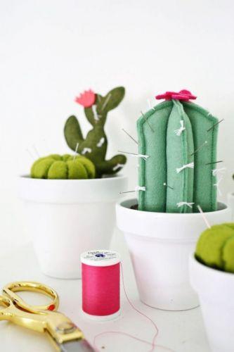 Originálny kaktusový nápad na ihelníček