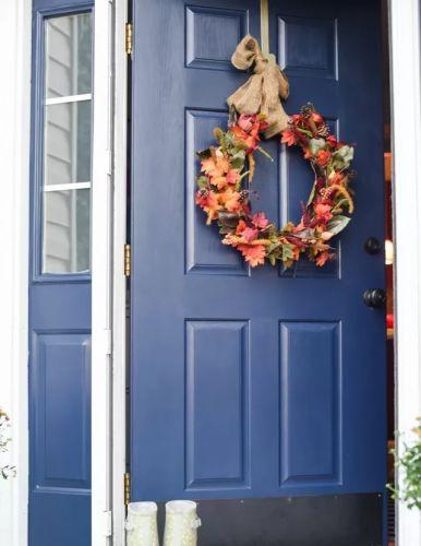 Jesenný veniec na dvere